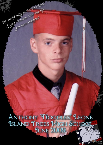 Noodles' graduation pic