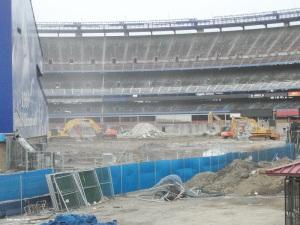 Shea Stadium deconstruction