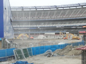 Shea Stadium deconstruction